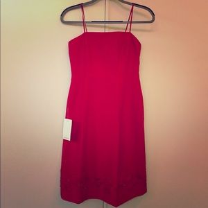 NWT Ann Taylor 100% Silk Red Dress